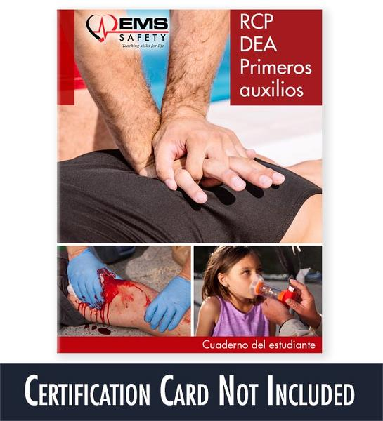 CPR, AED & First Aid Spanish Student Workbook (Certification Card ...