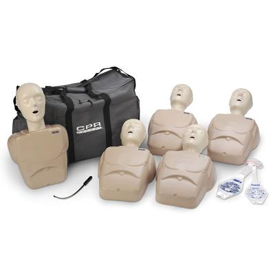 CPR Prompt Tan Adult/Child Manikins 5-Pack