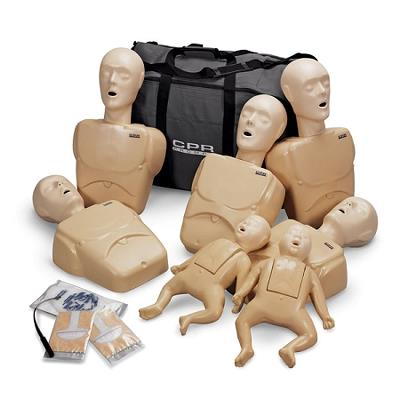 CPR Prompt 7-pack Adult/Child and Infant Manikins - Tan (TPAK700T)