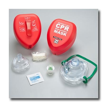 Adult & Infant Resuscitator Masks with Gloves & Wipe in Hard Case