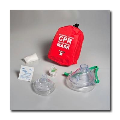Adult & Infant Resuscitator Masks with Gloves & Wipe in Soft Case