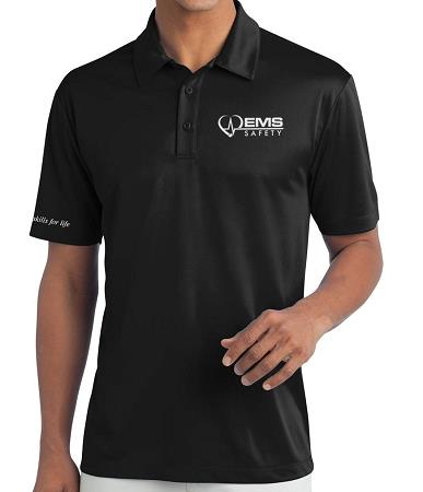 Men's EMS Safety Polo - Black - Medium