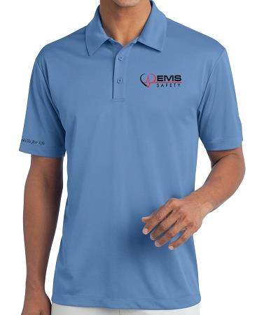 Men's EMS Safety Polo - Light Blue - Large