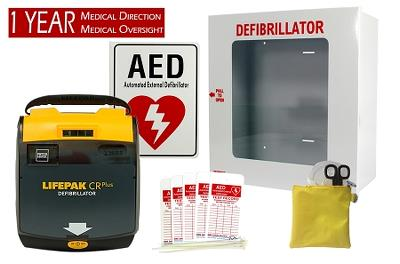 Physio Control LIFPAK CR Plus AED Package Semi-Auto