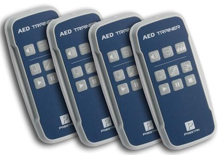 Prestan Professional AED Trainer Remotes - Four Pack - with 8 'AA' batteries(use w/Prestan Trainer)