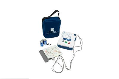 Prestan  AED Ultra Trainer with English/Spanish, adult/child training pads, carrying case.