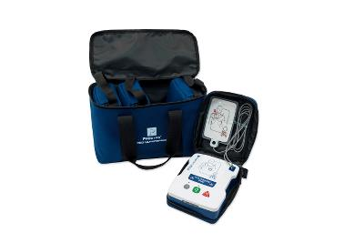 Prestan  AED Ultra Trainer 4-Pack with English/Spanish, adult/child training pads, carrying case.