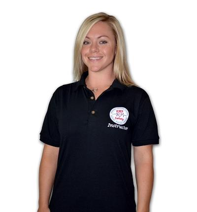 Women's Instructor Polo - Black - Screen Print - Small